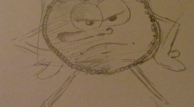BENNY the ANGRY PENNY  (FIRST SKETCHES)