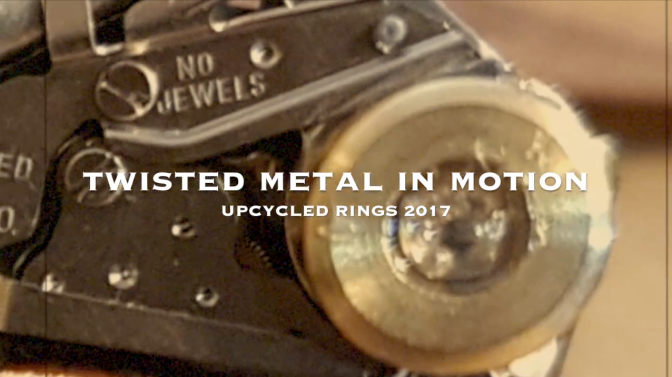 Twisted Metal In Motion – Upcycled Rings